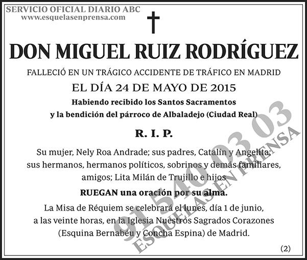 Miguel Ruiz Rodríguez